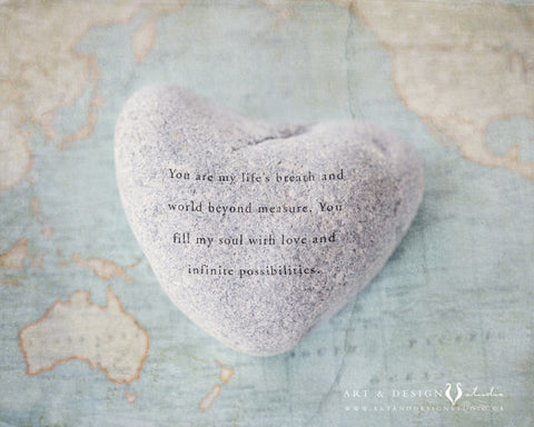 Travel Print with Love Quote