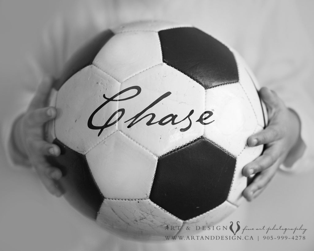 soccer ball wall art print custom sports decor artanddesignstudio ca