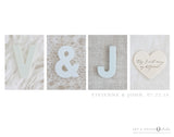 Monogram Wedding Gift - Alternative Guest Signing Board