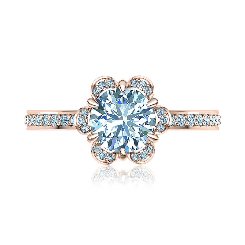 Amour de Fleur French Diamond Ring
