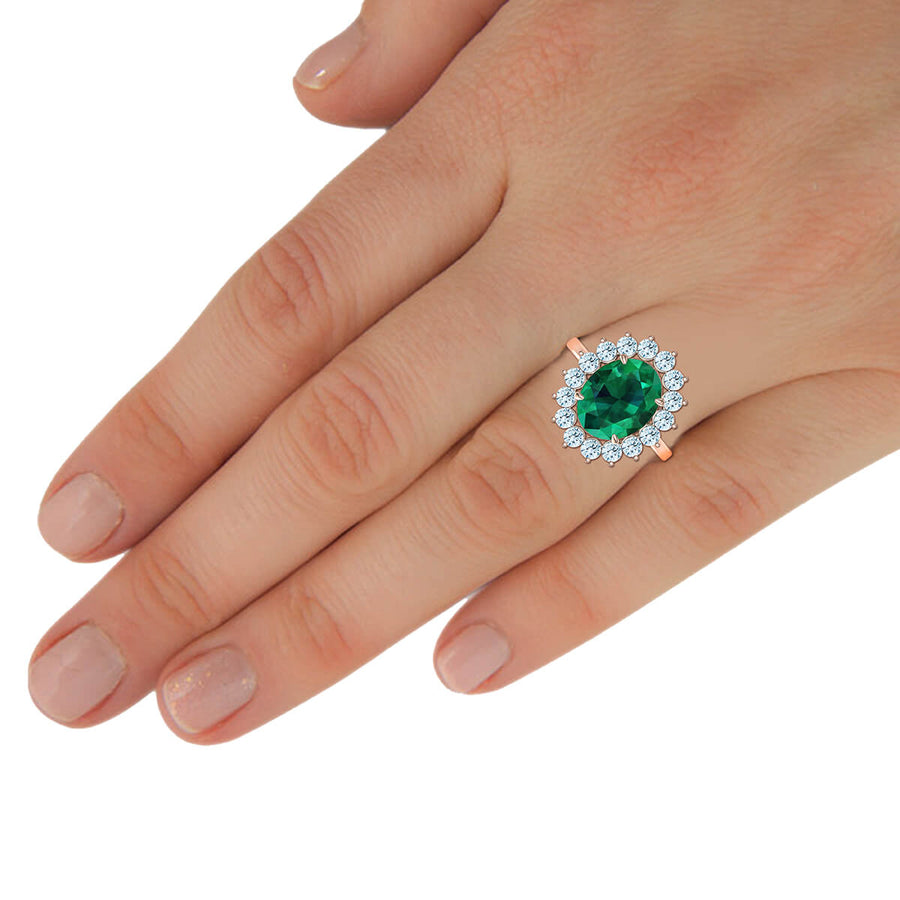 Aphrodite Emerald & Diamond Ring