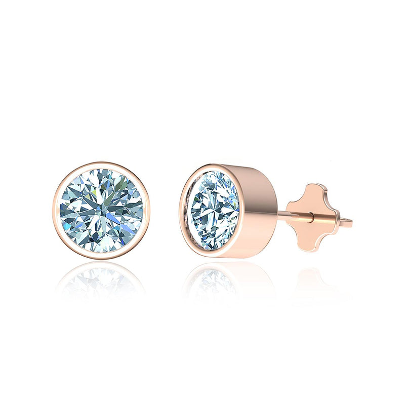 Bezel Diamond Earrings (1 ct. tw.)