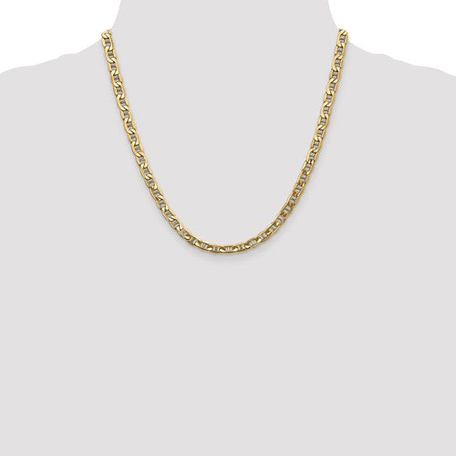 14K Yellow Gold 5.5mm Anchor Chain Necklace