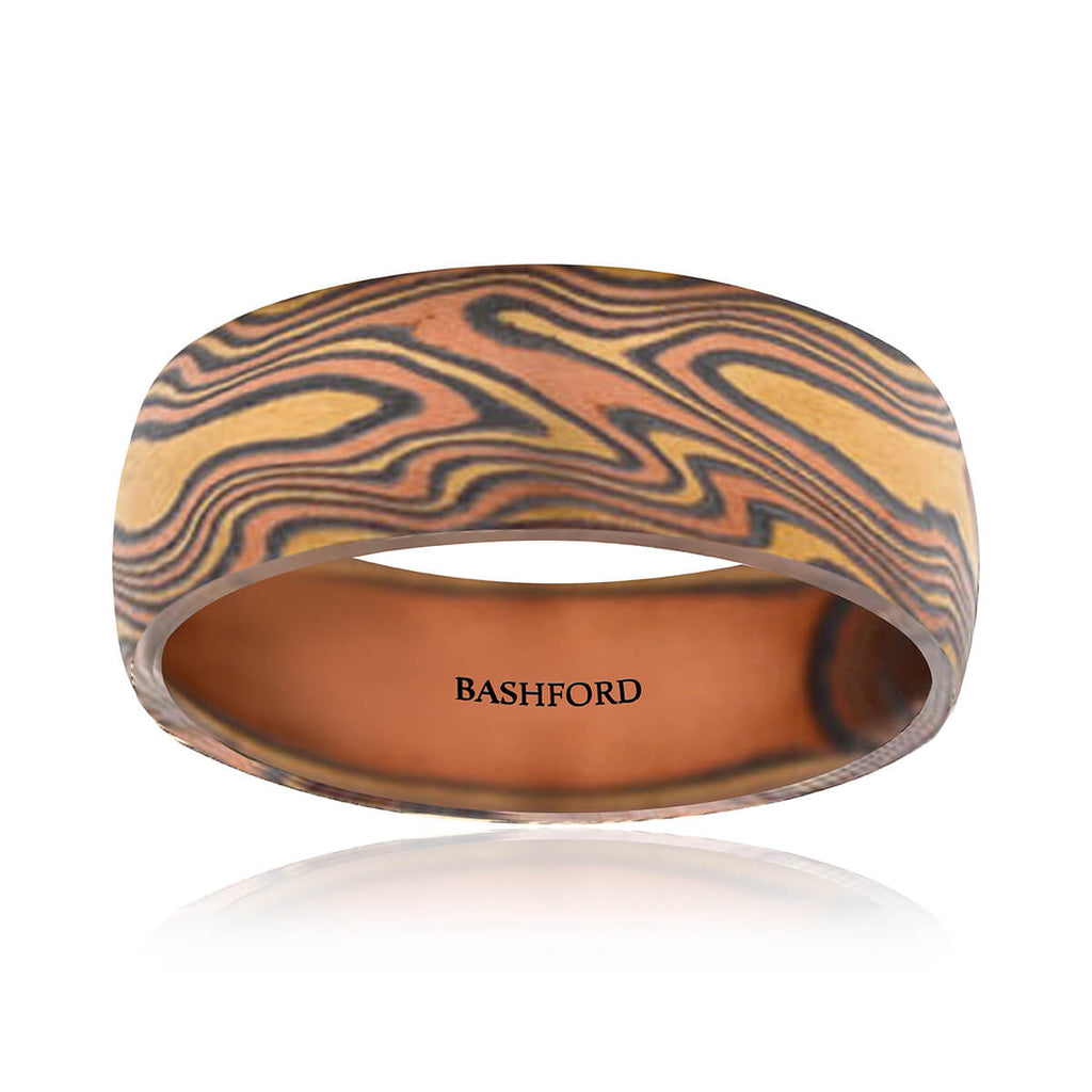 Beaumont Mokume Band (8 mm)