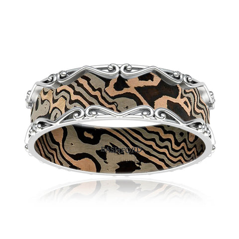 Zambales Mokume Diamond Band (1/4 ct. tw.)