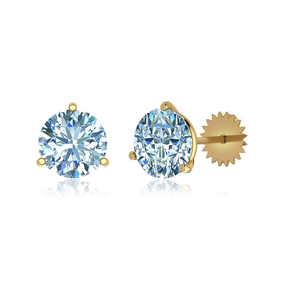 Three-Prong Martini Round Diamond Stud Earrings (1 ct. tw.)