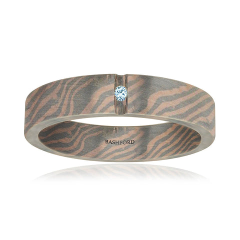Britton Mokume Diamond Band (1/2 ct. tw.)