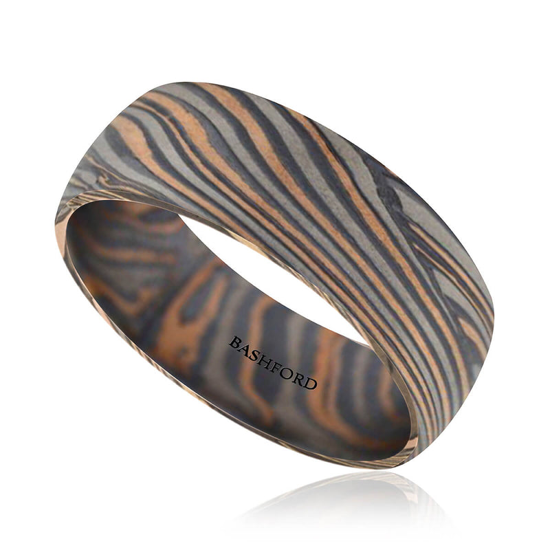 Chapada Mokume Wedding Band (8 mm)