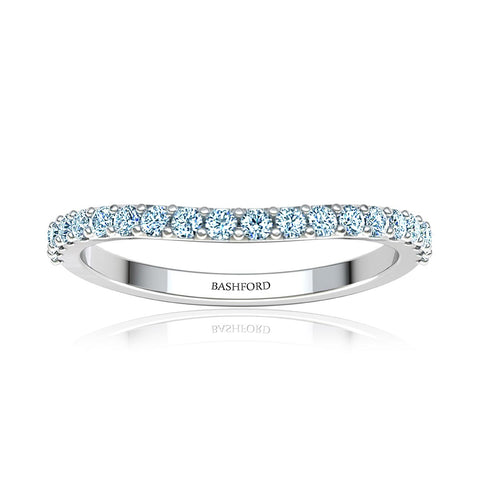 Trio Row Pave-Set Diamond Contour Wedding Band (1/2 ct. tw.)