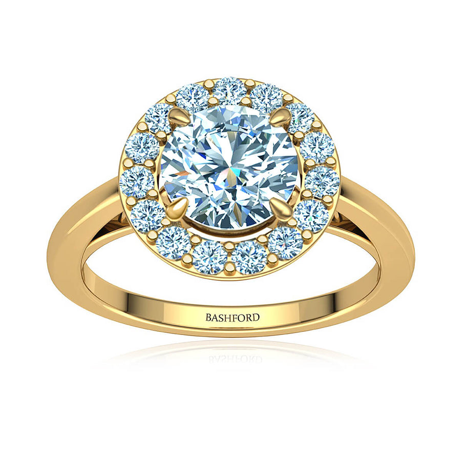 Classic Halo Diamond Ring