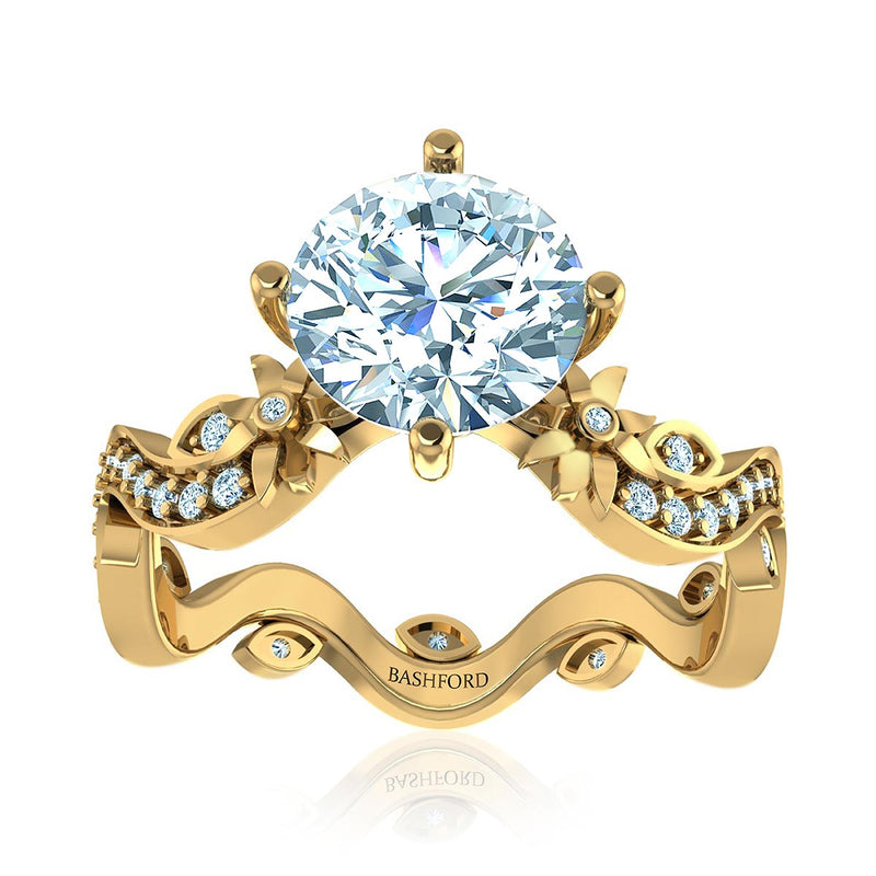 Crown Royal East West Diamond Ring