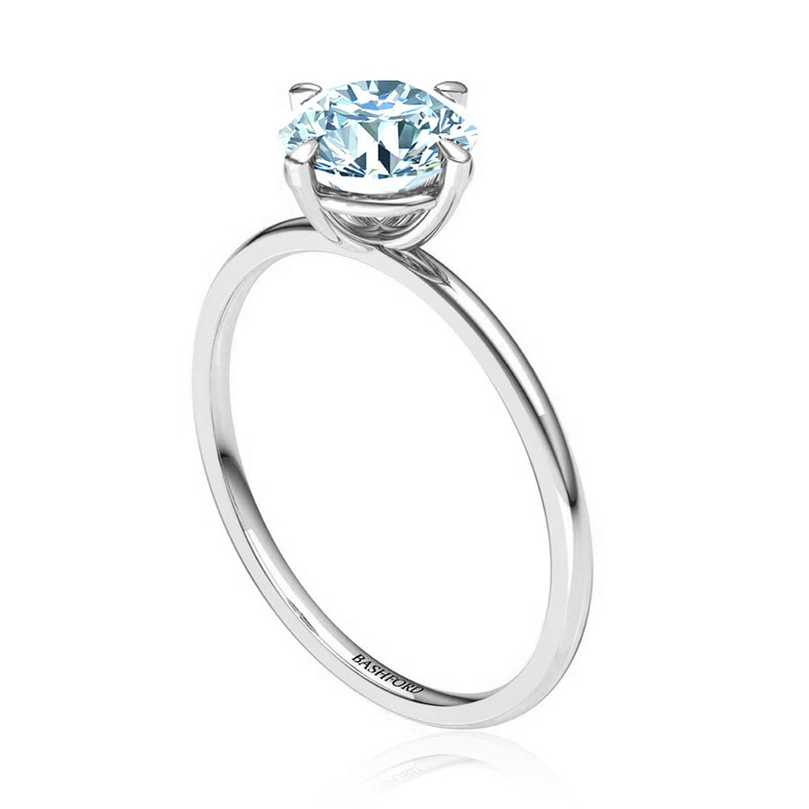 East West Solitaire Diamond Ring