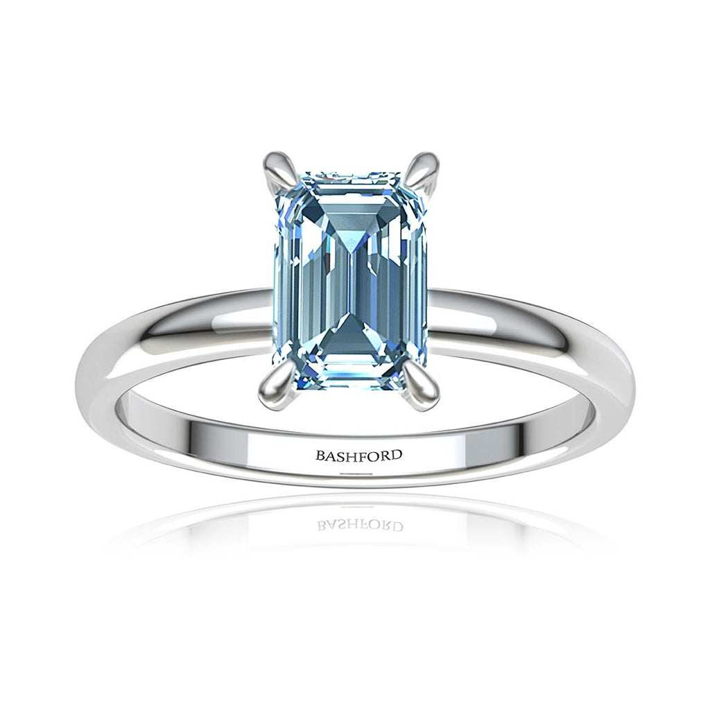 Emerald-Cut Solitaire Diamond Ring