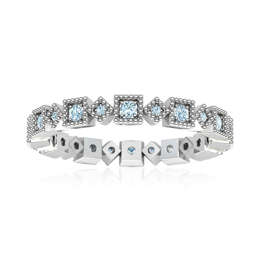 Geometric Eternity Diamond Ring (3/8 ct. tw.)