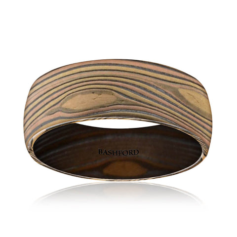 Licancabur Mokume Wedding Band (8 mm)