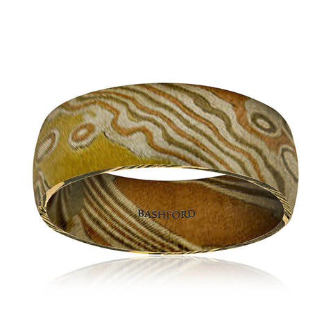 Cascade Mokume Diamond Band (1/3 Ct. tw)