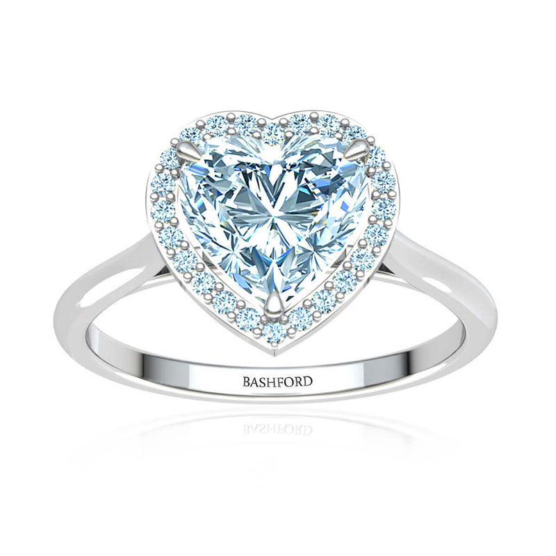 Heart Halo Diamond Ring
