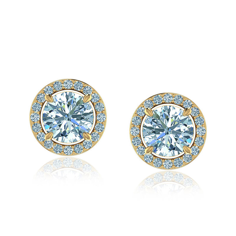 Classic Diamond Halo Earrings