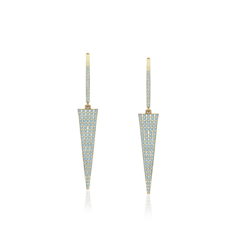 Triangle Diamond Drop Earrings