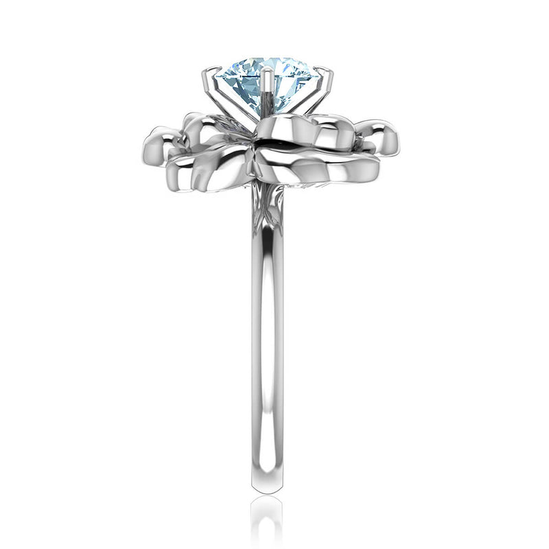 Lotus Flower Diamond Ring