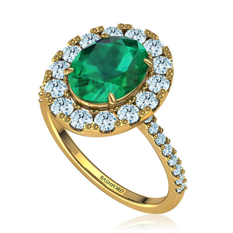 Marielyn Emerald & Diamond Ring