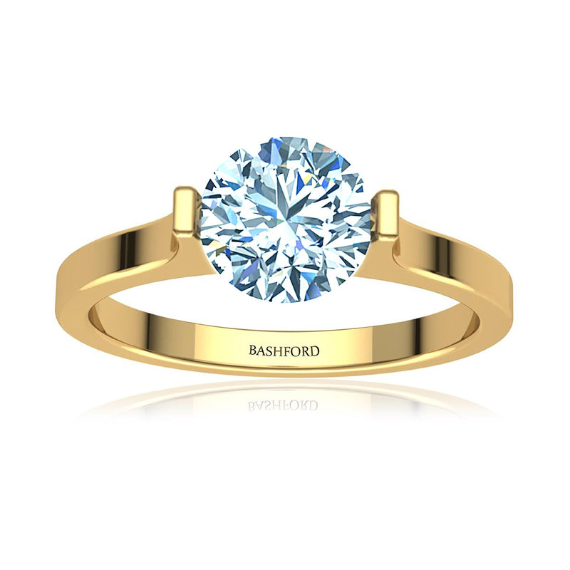 Modern Tension Set Diamond Ring