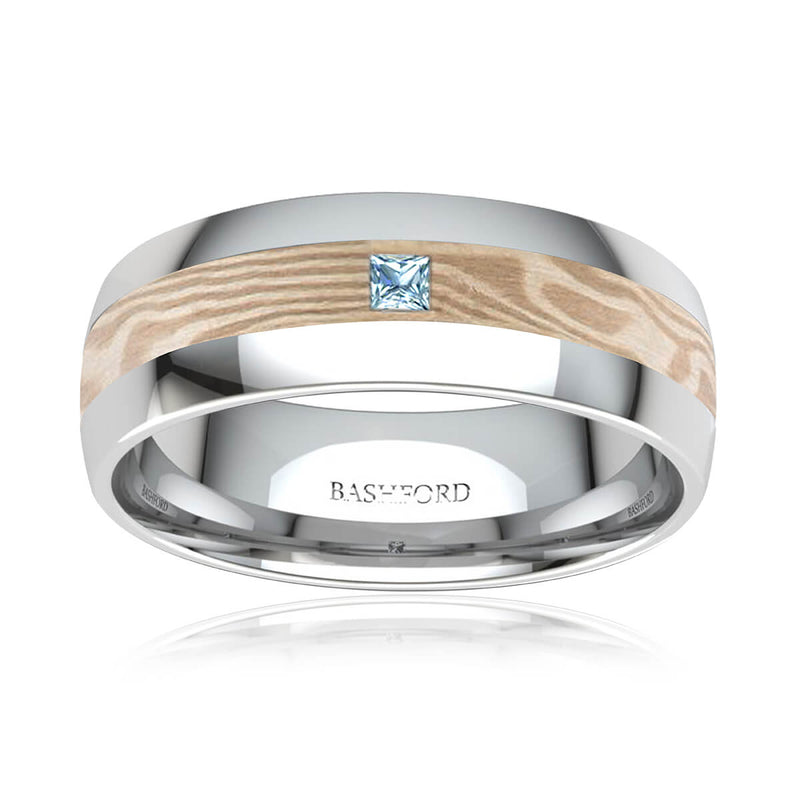 Mont Blanc Mokume Diamond Band (2/5 ct. tw.)