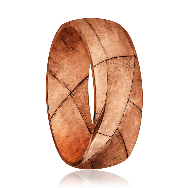 Montreal Mokume Wedding Band (8 mm)