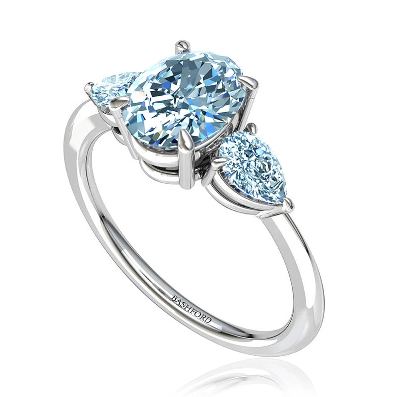 Oval Cut Three Stone Diamond Ring