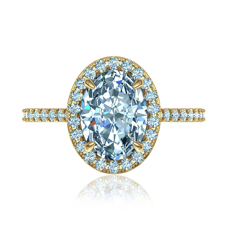 Classic Oval Halo Diamond Ring