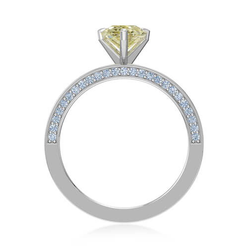 Pear Yellow Diamond Ring