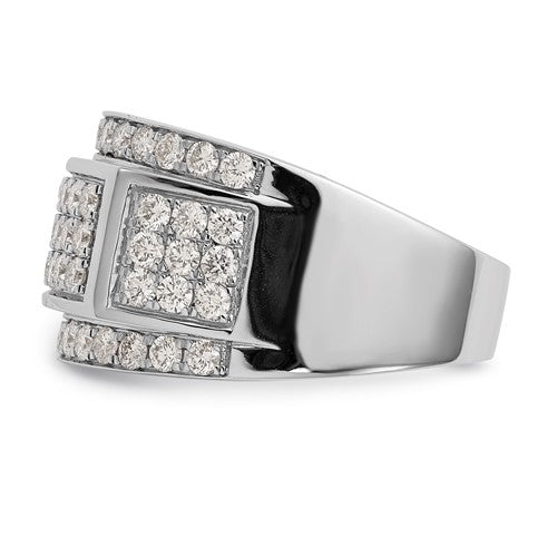 2.1 Ctw. Diamond Cluster Wide Men's Ring