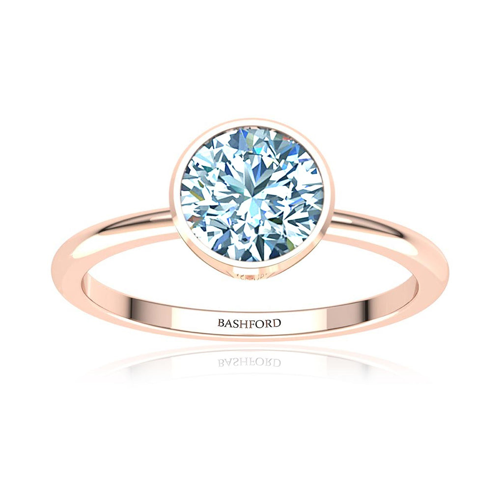 Round Bezel Diamond Ring