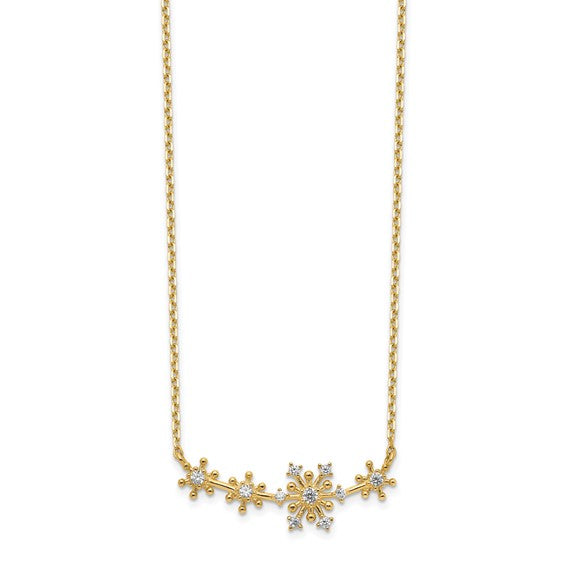 14K Snowflakes Necklace