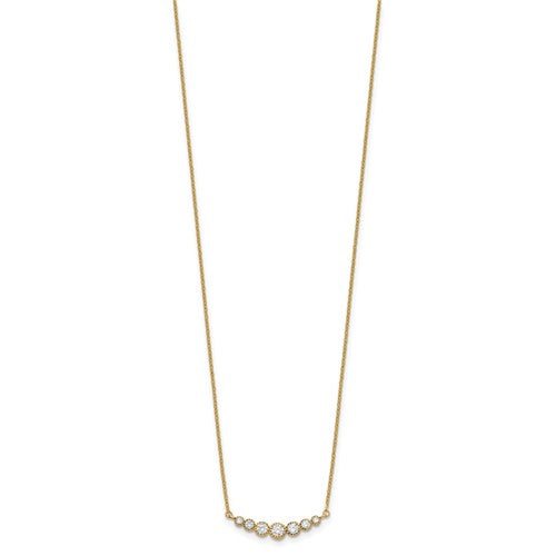14K Classic Graduating Curved Necklace