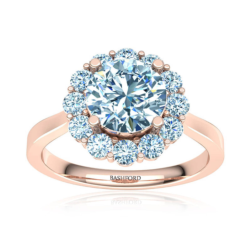 Sakura Halo Diamond Ring