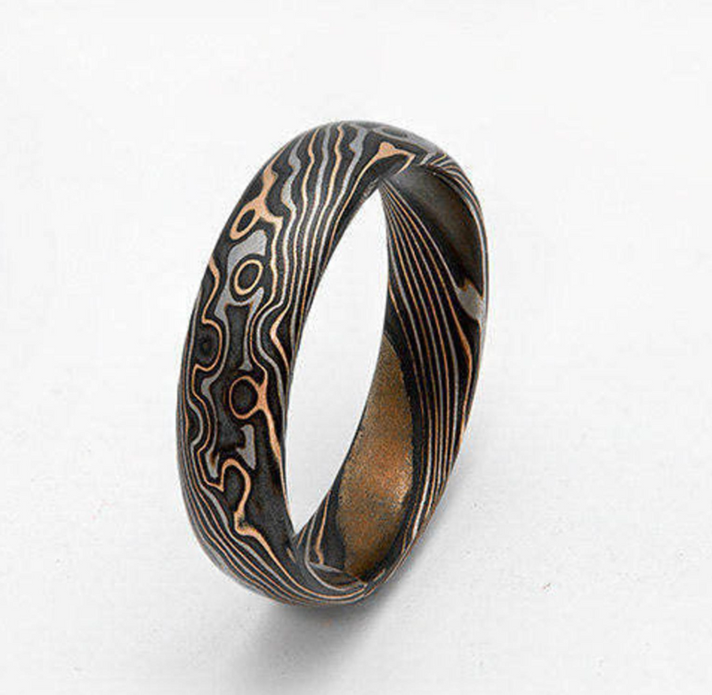 Madagascar Isalo Canyon Mokume Gane Ring