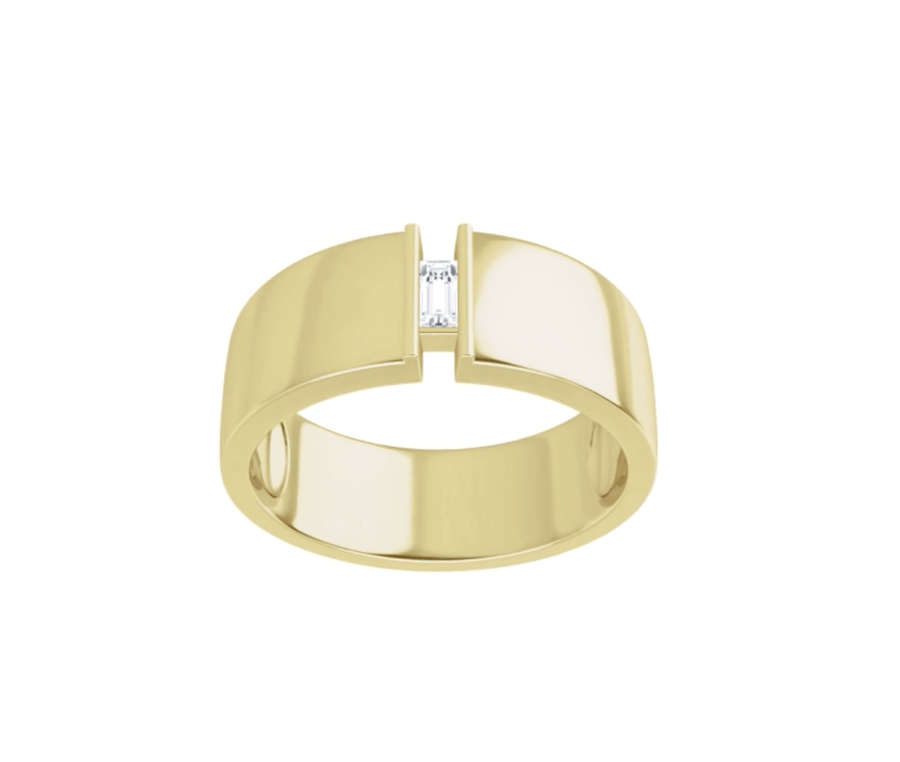 Glacier Baguette Wedding Ring  (8 mm)
