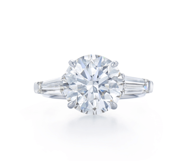 Classic Round Cut Three Stone Ring