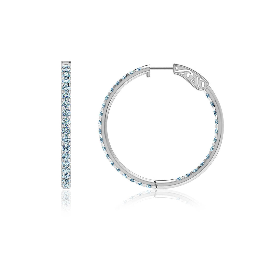Diamond Eternity Hoop Earrings (3 ct. tw.)