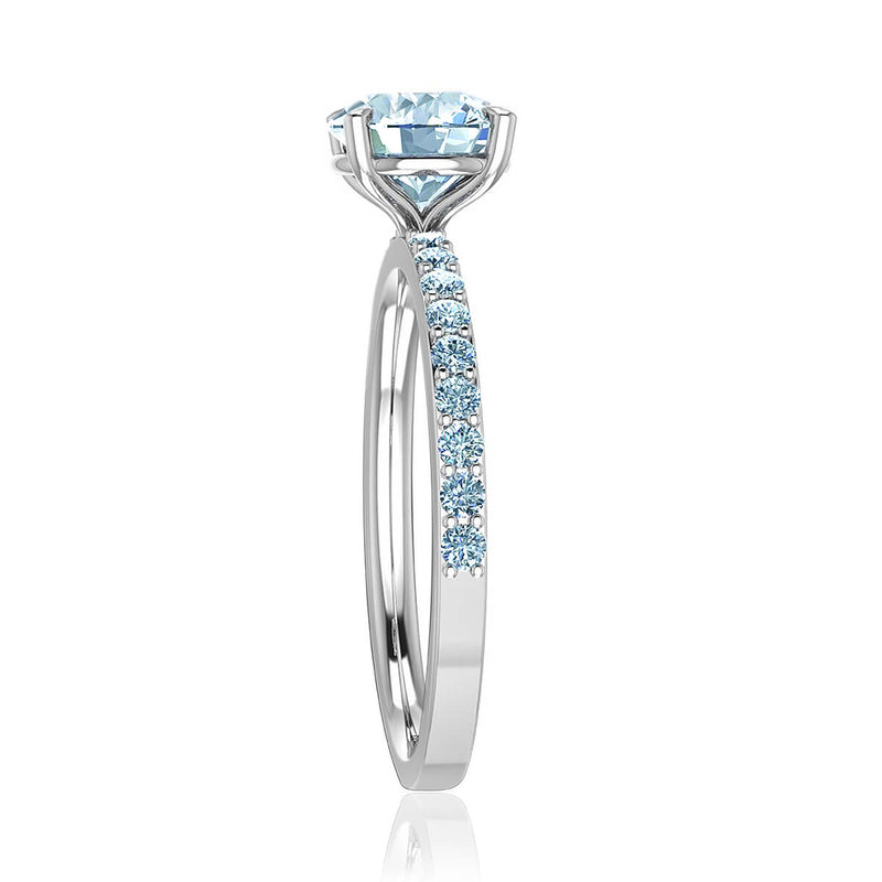 Petite Shared Prong Diamond Ring