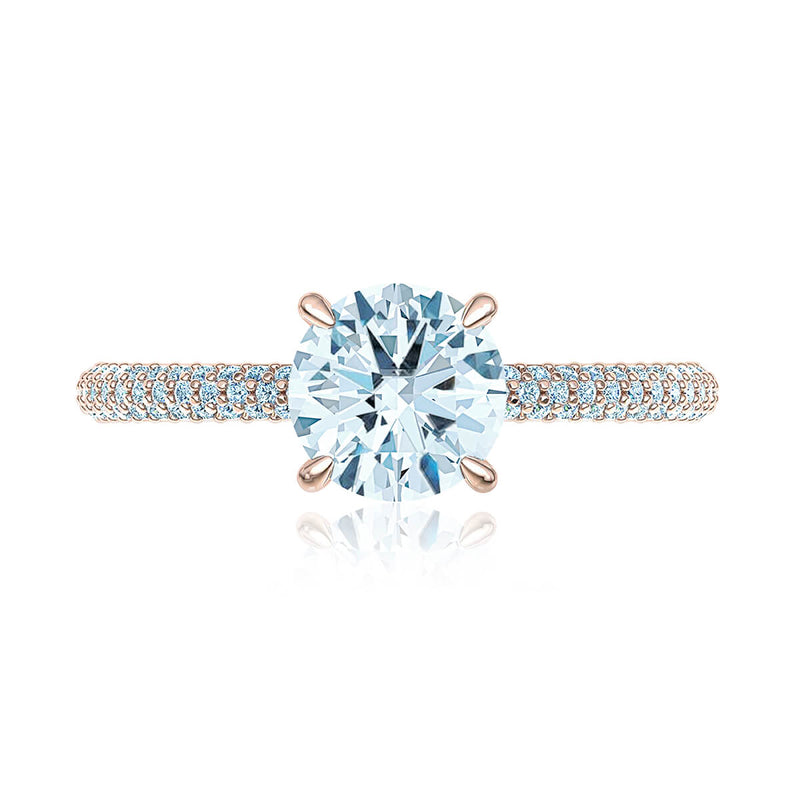 Trio Micropavé Diamond Ring