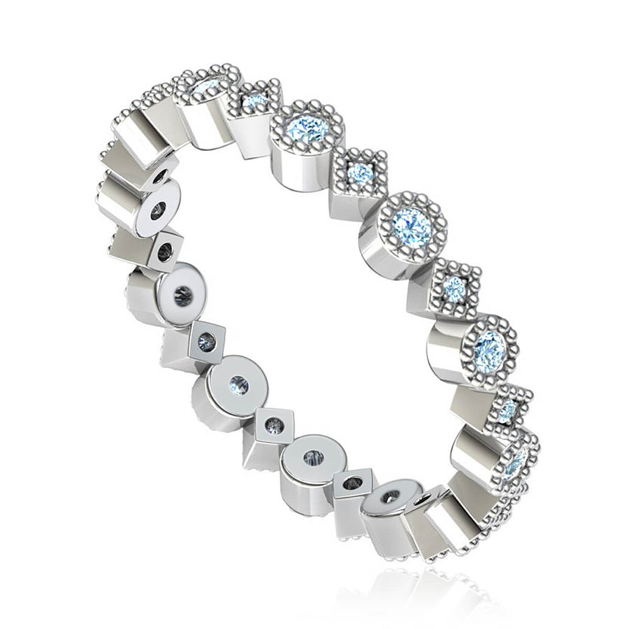 Vintage Inspired Eternity Ring (3/8 ct. tw.)
