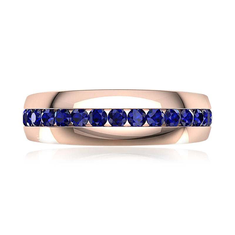 Blue Sapphire Comfort-Fit Band (7 mm)