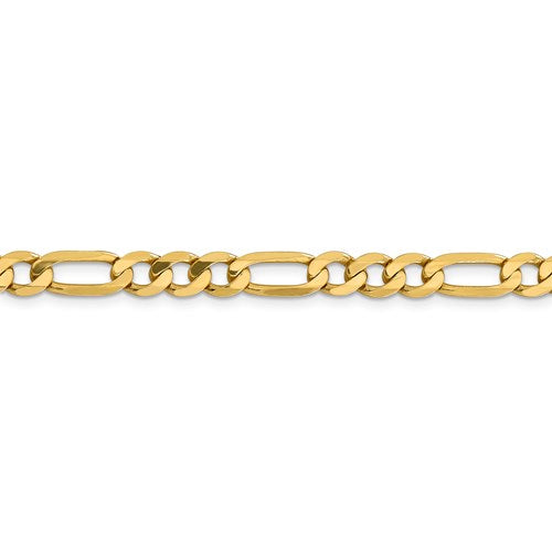 14k 6.25mm Flat Figaro Chain