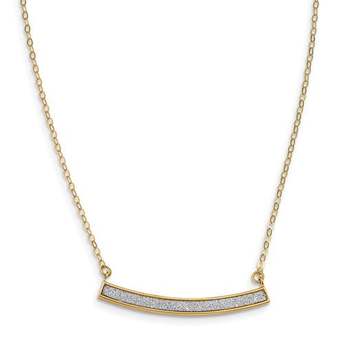 14K Yellow Gold Glimmer Infused Necklace