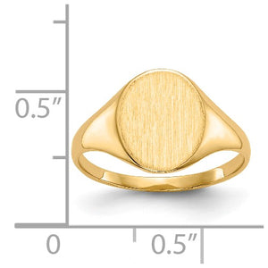 Closed Back Personalized Signet Ring