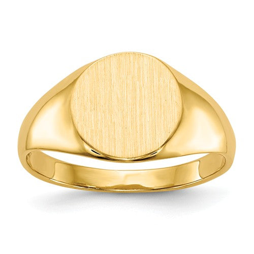 Round Closed Back Personalized Signet Ring