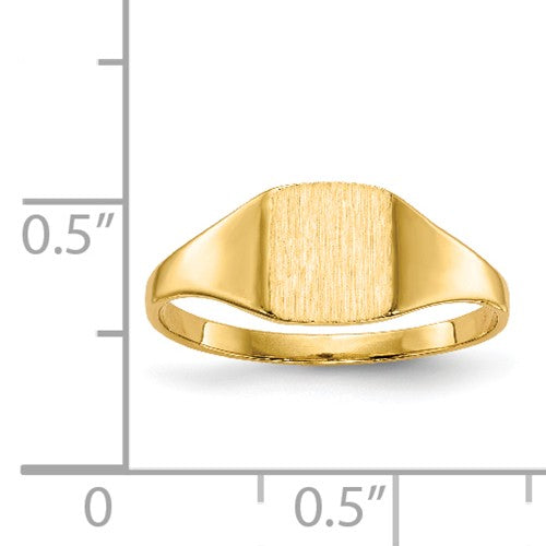 Square Closed Back Personalized Signet Ring