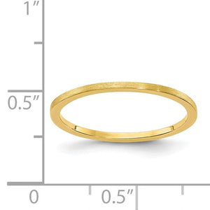 Petite 1.2mm Flat Satin Stackable Band